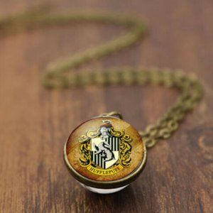 Hufflepuff Harry Potter Globe Glass Pendant